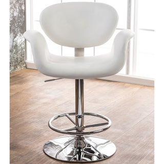 Furniture of America Alize Hydraulic Height Adjustable Swivel Bar Stool