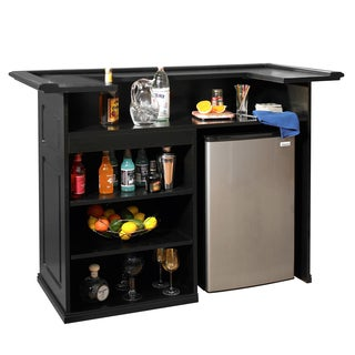 Sanford 58 Inch Black Freestanding Bar