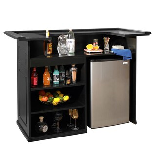Sanford 58-inch Black Freestanding Bar