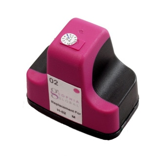 Sophia Global Remanufactured Ink Cartridge Replacement for HP 02 (1 Magenta)