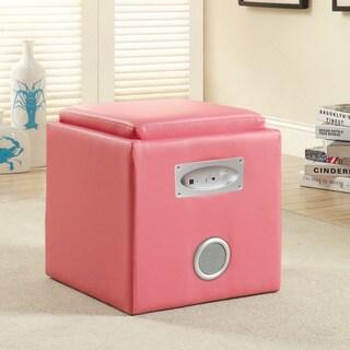 Furniture Of America Bluetooth Double-speaker Storage Ottoman