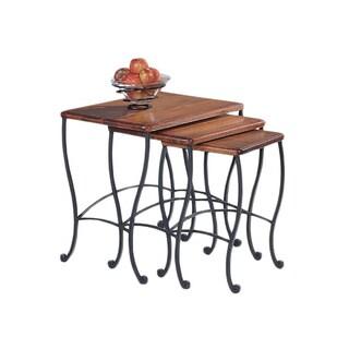 Coaster Company Rustic Oak 3-piece Nesting Table Set