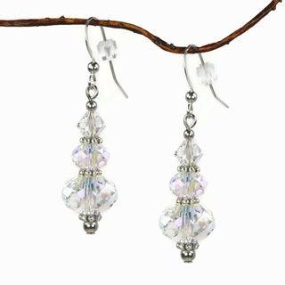 Jewelry by Dawn Aurora Borealis Crystal Rondelle Dangle Earrings