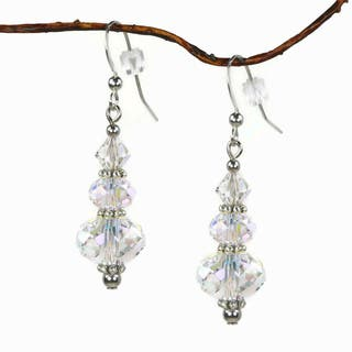 Jewelry by Dawn Aurora Borealis Crystal Rondelle Dangle Earrings|https://ak1.ostkcdn.com/images/products/8859257/Jewelry-by-Dawn-Aurora-Borealis-Crystal-Rondelle-Dangle-Earrings-P16086705.jpg?impolicy=medium