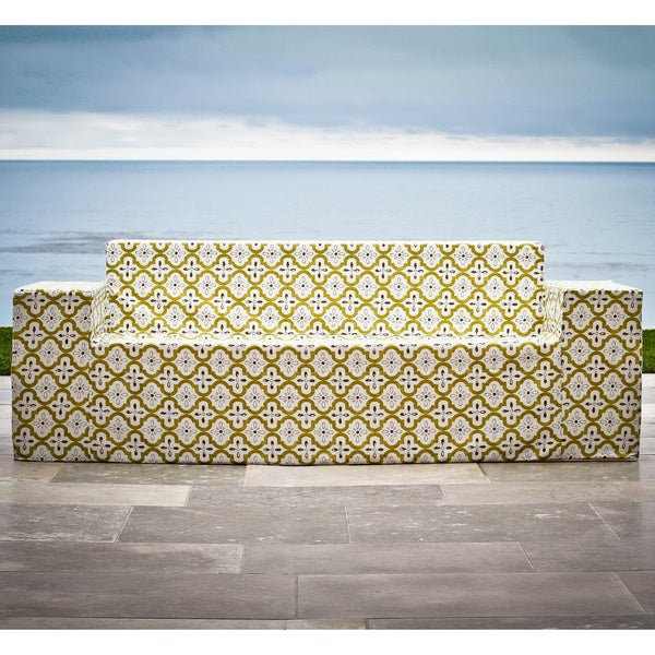 Softblock Moroccan Chartreuse Outdoor Sofa
