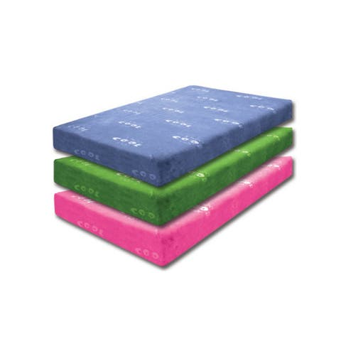 Furniture of America Nivo Contemporary Blue Full Memory Foam Mattress