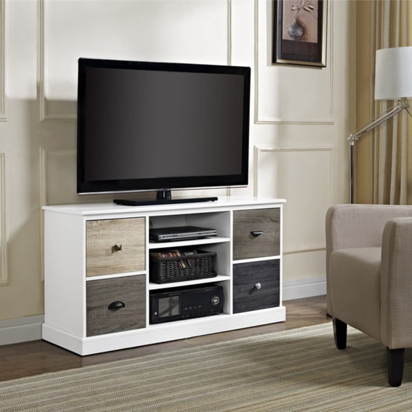 Altra Mercer Storage TV Console with Multicolored Door Fronts