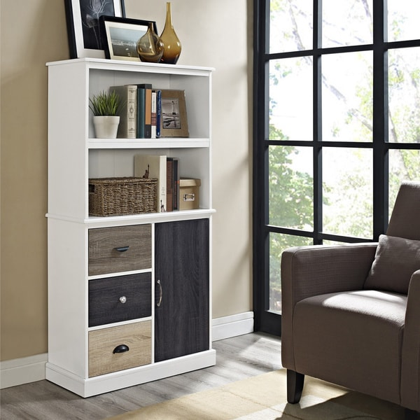 Low Bookcases With Doors: Shop Altra Mercer Storage Bookcase With Multicolored Door