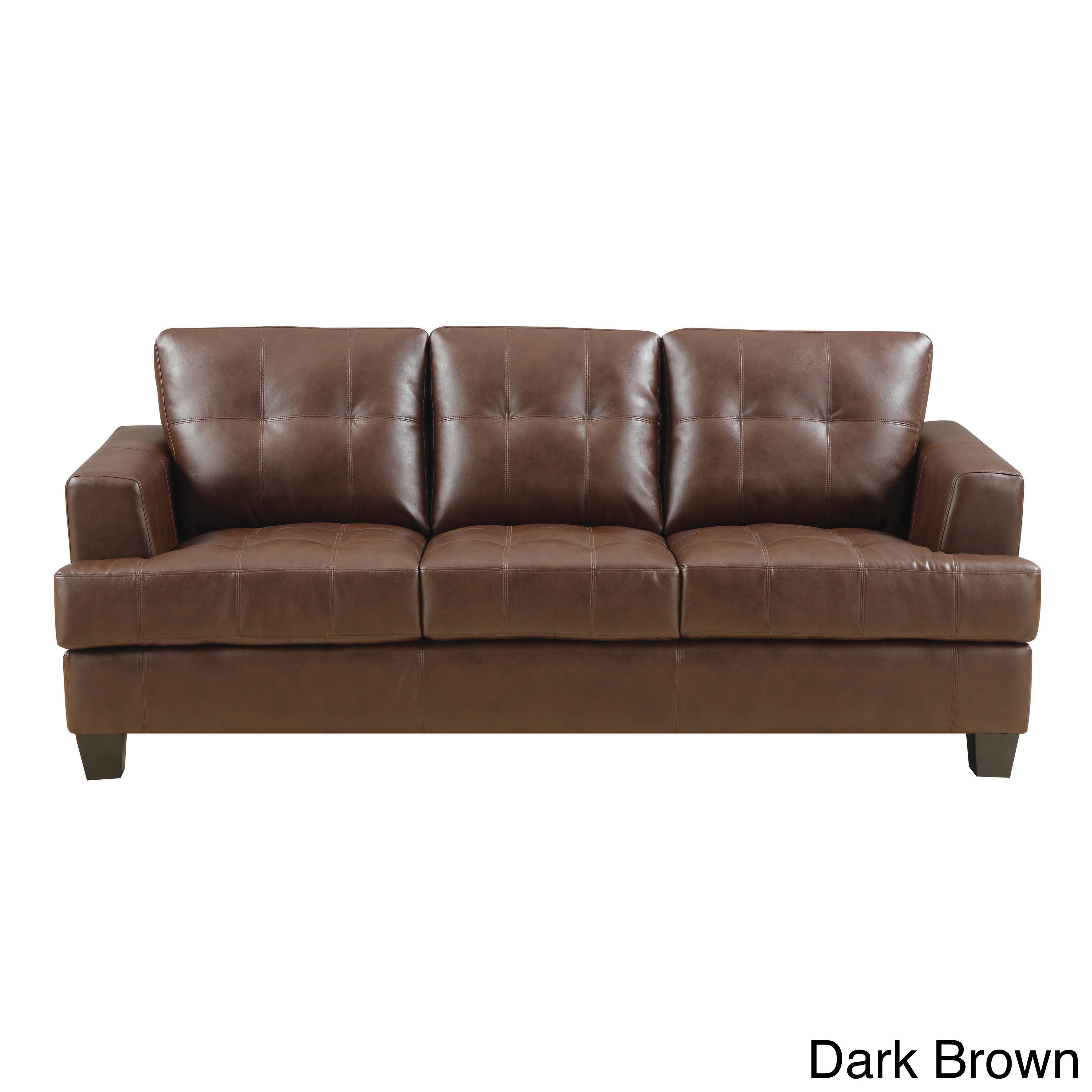 Sofa bonded leather lovable bonded leather sofa for Coaster co of america furniture
