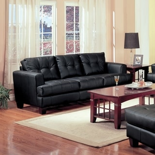 Coaster Company Samuel Contemporary Bonded Leather Sofa Free Shipping Today 8859336