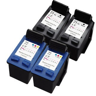 Sophia Global Remanufactured Ink Cartridge Replacement for HP 21XL 22 (2 Black, 2 Color)