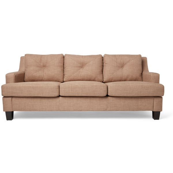 Elston Linen Tufted Sloped Track Sofa INSPIRE Q Modern   Free Shipping  Today   Overstock.com   16087013