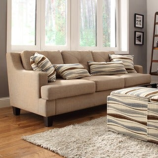 Elston Linen Tufted Sloped Track Sofa by MID-CENTURY LIVING