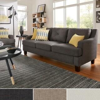 elston linen tufted sloped track sofa inspire q modern - Grey Tufted Sofa