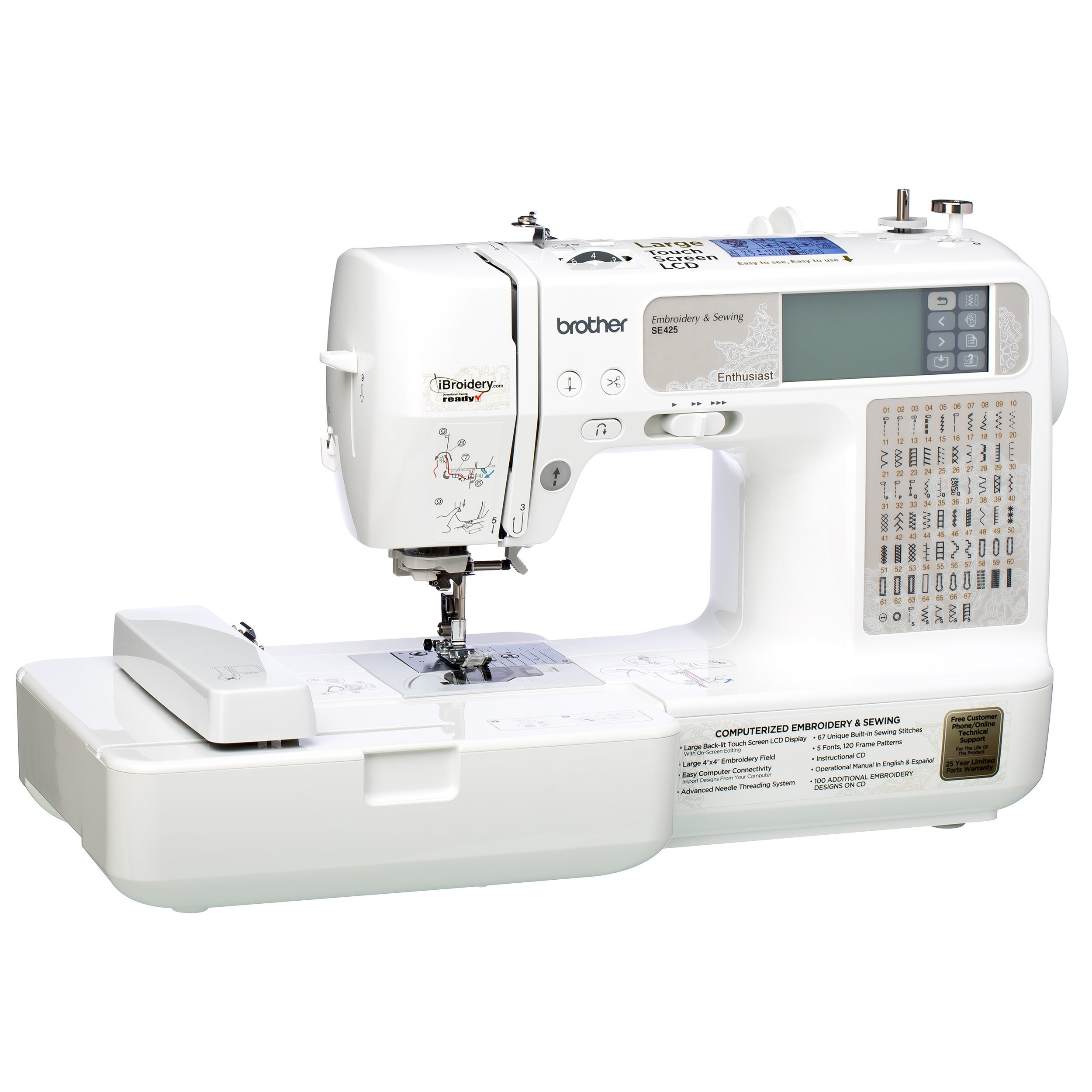 Brother RSE425 Computerized Sewing and Embroidery Machine...
