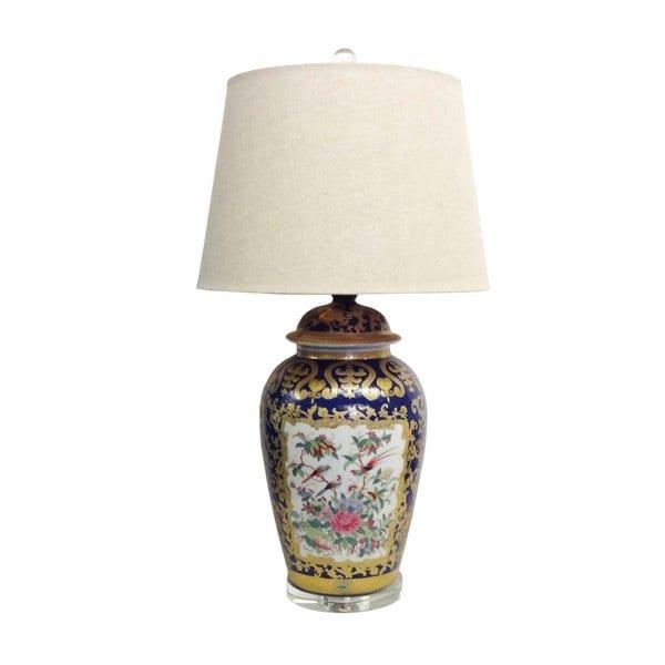 1-light Royal Medallion Temple Jar Porcelain Lamp