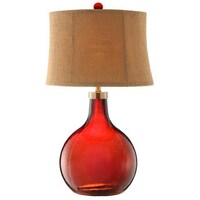 Shop lucy 2875 table lamp red glass on sale free shipping stafford red glass table lamp aloadofball Gallery