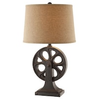 Weston 1 light two tone rattan table lamp free shipping today hebble black table lamp mozeypictures Choice Image