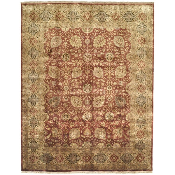 Safavieh Hand-knotted Ganges River Rust/ Gold Wool Rug (9' x 12')
