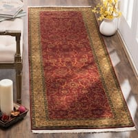 Safavieh Hand-knotted Ganges River Rust/ Green Wool Rug - 9' X 12'