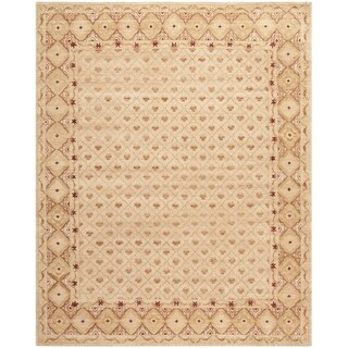 Safavieh Hand-knotted Marrakech Ivory/ Red Wool Rug (9' x 12')