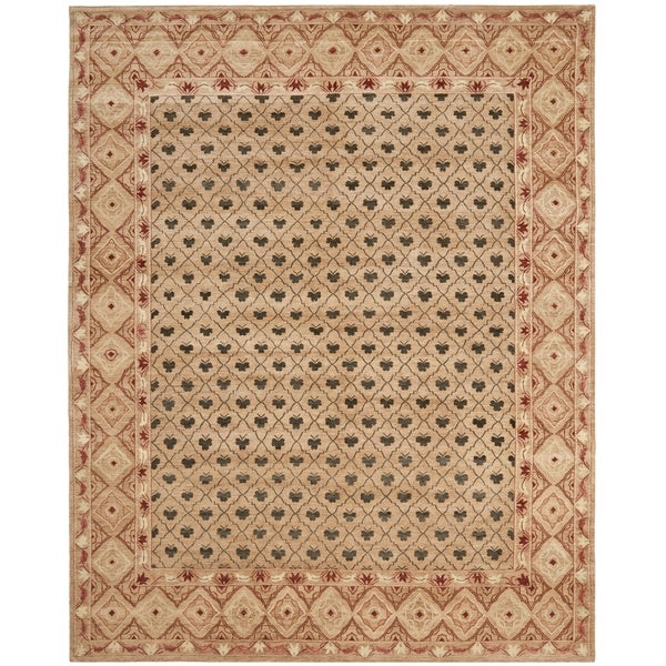 Safavieh Hand-knotted Marrakech Beige/ Red Wool Rug - 10' x 14'