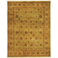 Safavieh Hand-knotted Lavar Light Green/ Peach Wool Rug (9' x 12')