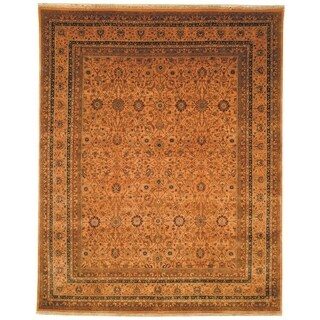 Safavieh Hand-knotted Lavar Apricot/ Gold Wool Rug (9' x 12')
