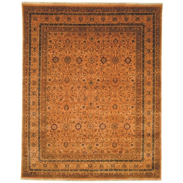 Safavieh Hand-knotted Lavar Apricot/ Gold Wool Rug - 9' x 12'