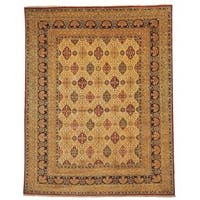 Safavieh Hand-knotted Lavar Ivory/ Navy Wool Rug - 9' x 12'