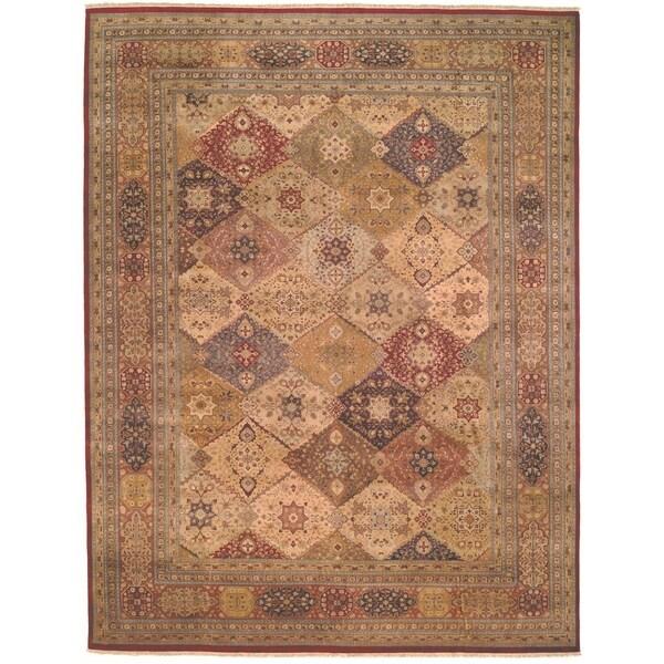 Safavieh Hand-knotted Lavar Multi/ Rust Wool Rug - 9' x 12'