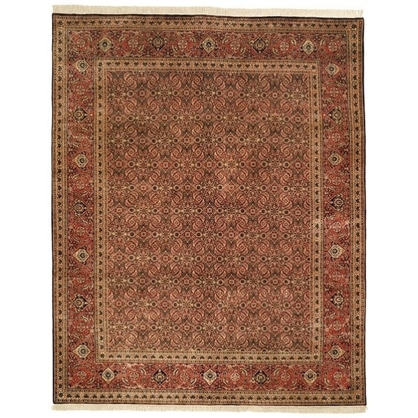 Safavieh Hand-knotted Herati Brown/ Rust Wool Rug - 9' x 12'