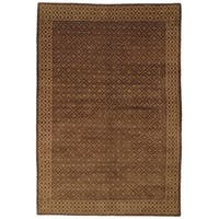 Safavieh Hand-knotted Nepalese Brown Wool/ Silk Area Rug - 8' x 10'