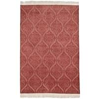 Safavieh Hand-knotted Nepalese Rust Wool/ Silk Rug - 9' x 12'