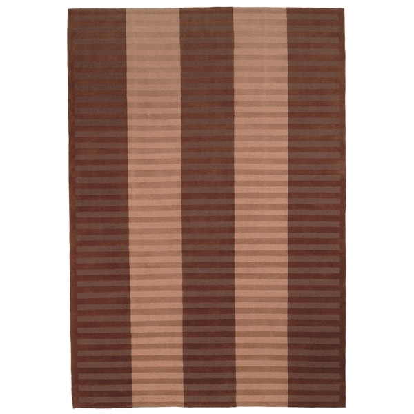 Safavieh Hand-knotted Nepalese Beige/ Brown Wool Rug - 9' x 12'