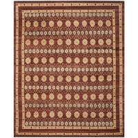 Safavieh Hand-knotted Marrakech Brown/ Light Blue Wool Rug - 9' x 12'