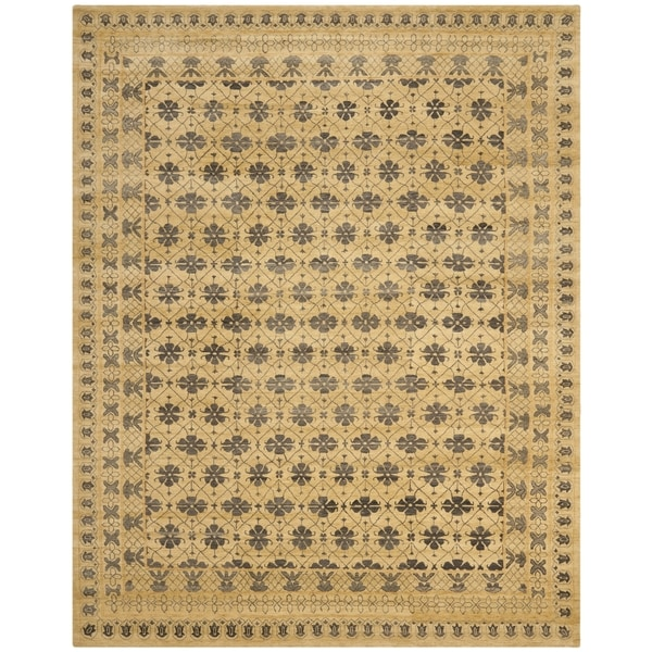 Safavieh Hand-knotted Marrakech Ivory/ Blue Wool Rug - 9' x 12'