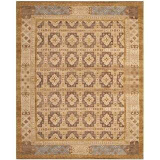 Safavieh Hand-knotted Marrakech Gold/ Light Blue Wool Rug (9' x 12')