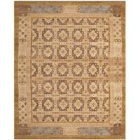 Safavieh Hand-knotted Marrakech Gold/ Light Blue Wool Rug - 10' x 14'