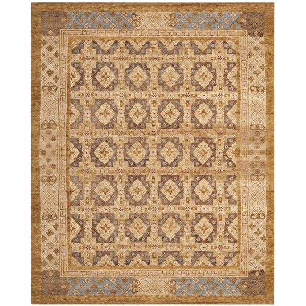 Safavieh Hand-knotted Marrakech Gold/ Light Blue Wool Rug - 10' x 14'