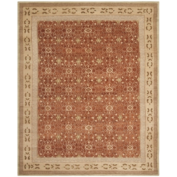 Safavieh Hand-knotted Marrakech Rose/ Ivory Wool Rug - 9' x 12'