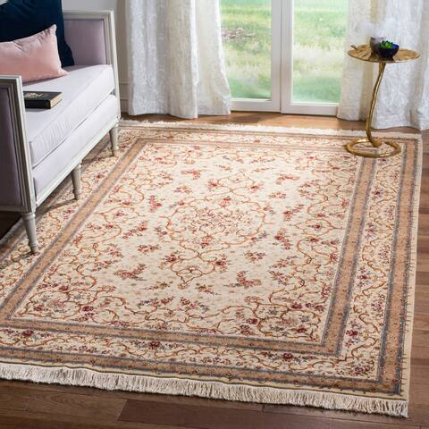 Safavieh Couture Hand-knotted Tabriz Floral Rumjanka Traditional Oriental Wool Rug with Fringe