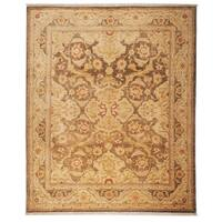 Safavieh Hand-knotted Peshawar Vegetable Dye Olive/ Gold Wool Rug - 8' x 10'