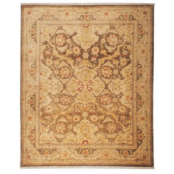 Safavieh Hand-knotted Peshawar Vegetable Dye Olive/ Gold Wool Rug (8' x 10')