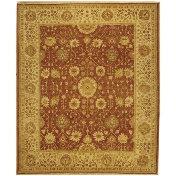 Safavieh Hand-knotted Peshawar Vegetable Dye Rust/ Lemon Wool Rug (8' x 10')