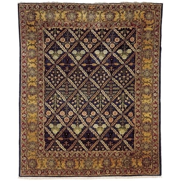 Safavieh Hand-knotted Peshawar Vegetable Dye Navy/ Gold Wool Rug (8' x 10')