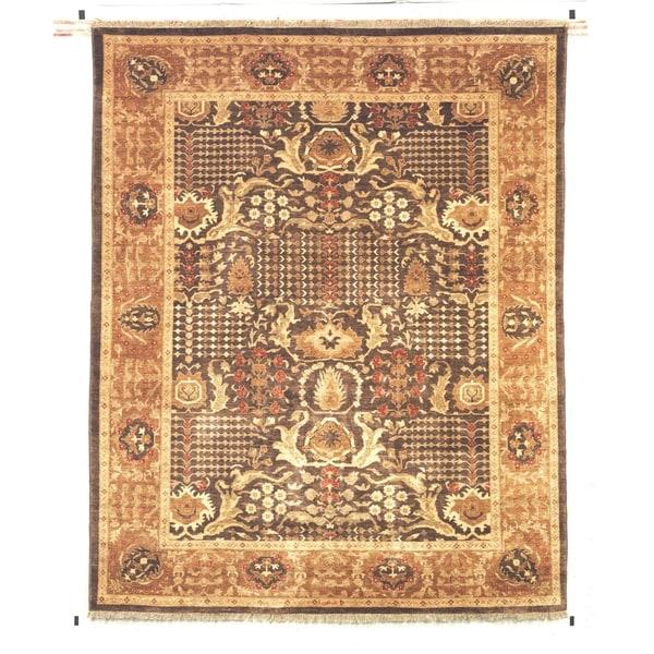 Safavieh Hand-knotted Peshawar Vegetable Dye Walnut/ Gold Wool Rug - 8' x 10'