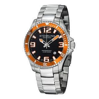Stuhrling Original Men's Regatta Champion Swiss Quartz Stainless Steel Bracelet Watch