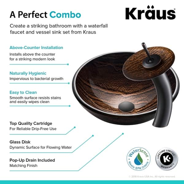Shop Kraus 4-in-1 Bathroom Set C-GV-398-19mm-10 Gaia Glass