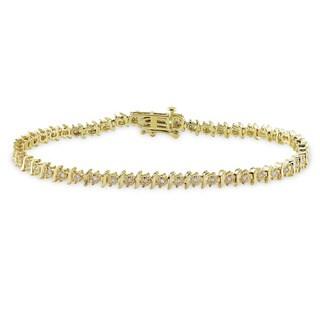 Miadora 14k Yellow Gold 1/4ct TDW Diamond Bracelet (G-H, I1-I2)